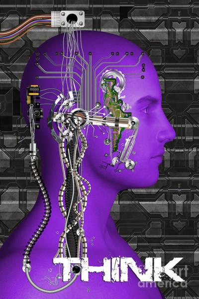 Digital Art - Think by Carlos Diaz