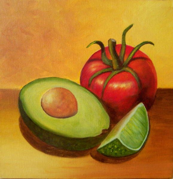 Painting - Think Guacamole - Sold by Susan Dehlinger