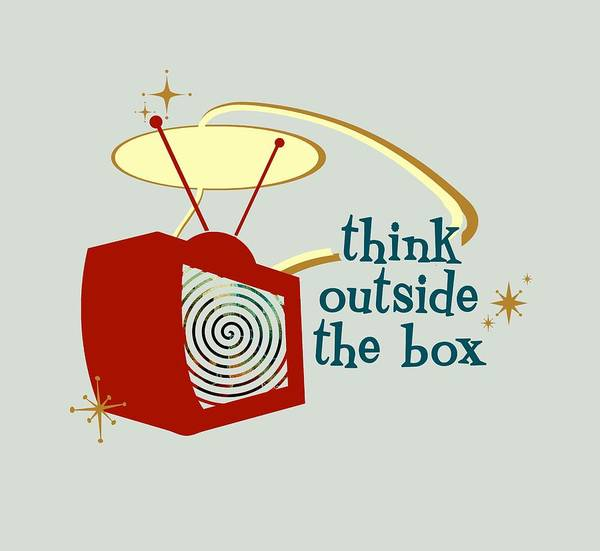 Digital Art - Think Outside The Box by Heather Applegate