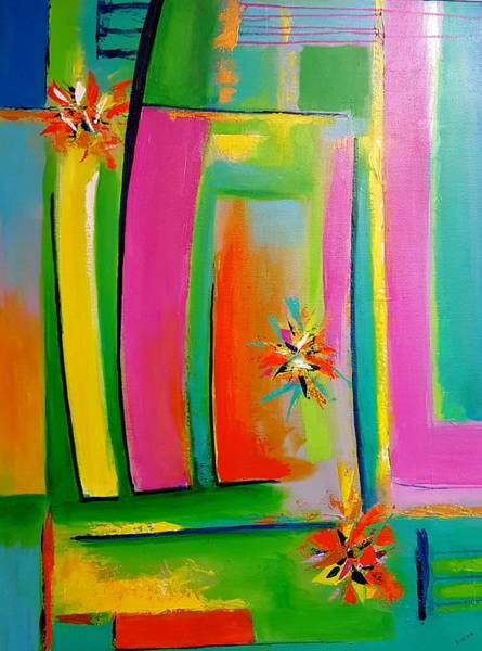 Wall Art - Painting - Think Spring by Stuart Glazer