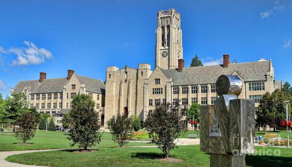Mac Photograph - Thinker And The University Hall University Of Toledo  6220 by Jack Schultz