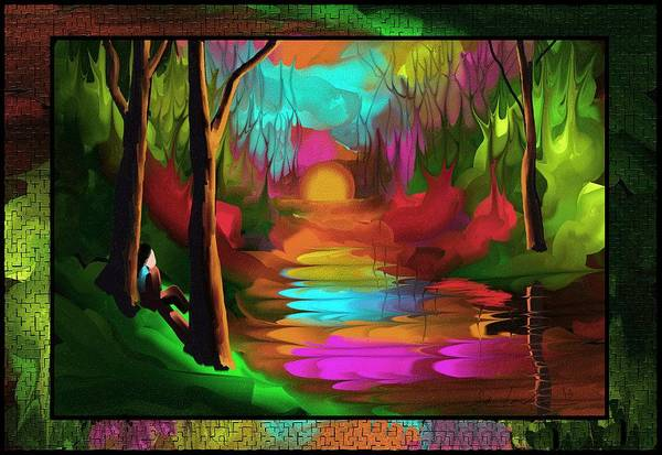 Wall Art - Painting - Thinking In Color by Steven Lebron Langston