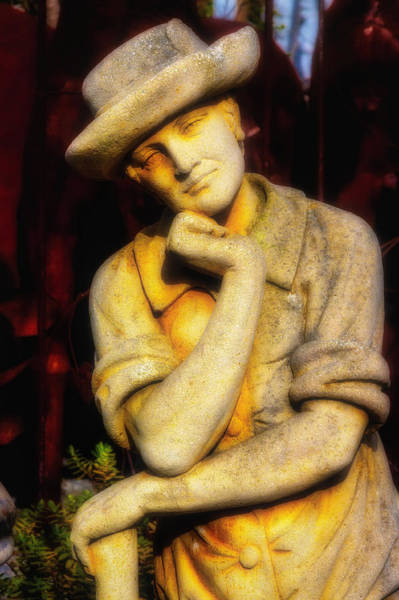 Wall Art - Photograph - Thinking In The Garden by Garry Gay