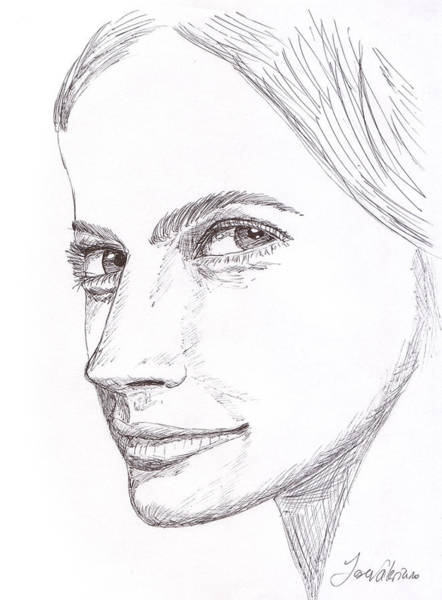 Drawing - Thinking by M Valeriano