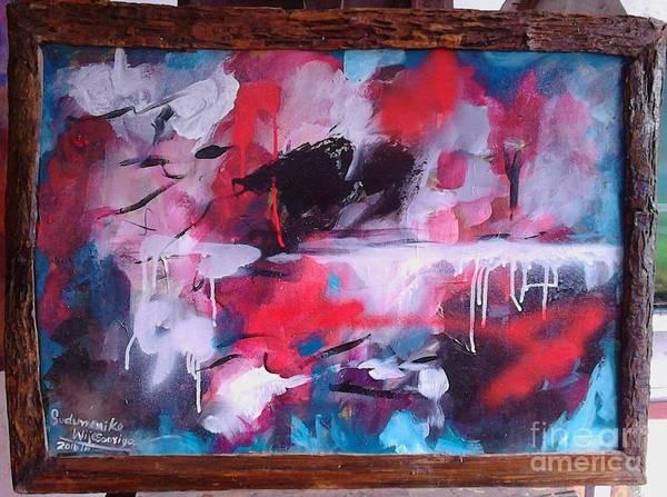 Wall Art - Painting - Thinking Mind by Sudumenike Wijesooriya