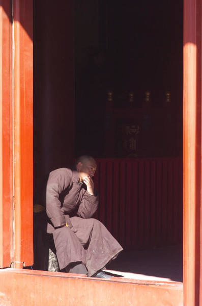 Photograph - Thinking Monk by Sebastian Musial