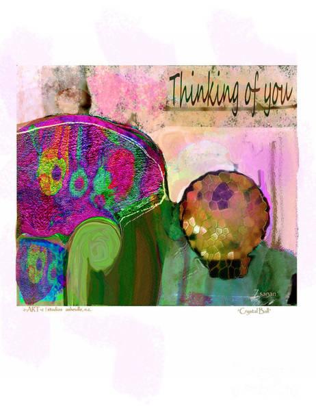 Wall Art - Digital Art - Thinking Of You No.8 by Zsanan Studio