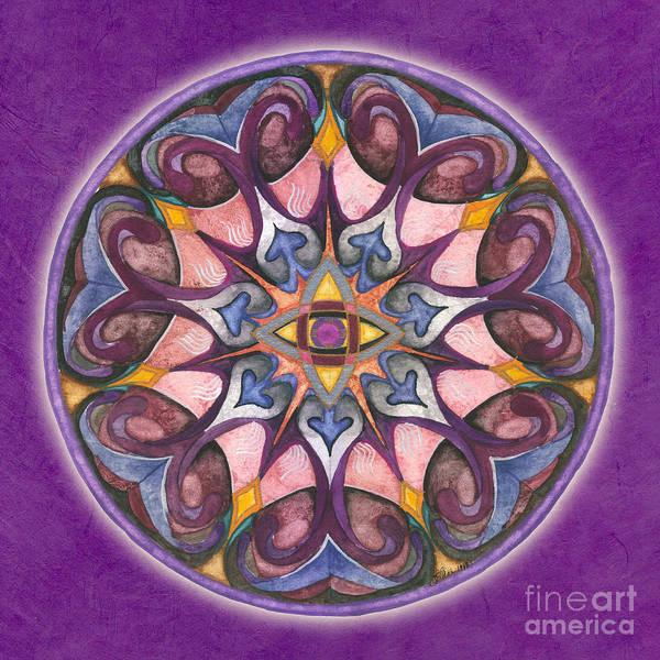 Painting - Third Eye Mandala by Jo Thomas Blaine