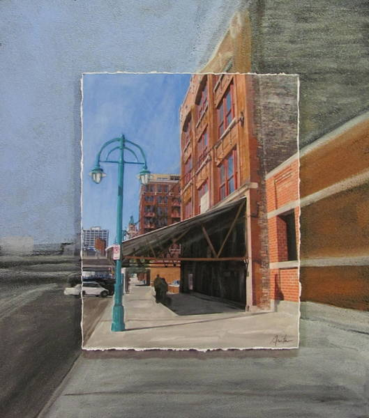 Mixed Media - Third Ward - Market Street by Anita Burgermeister