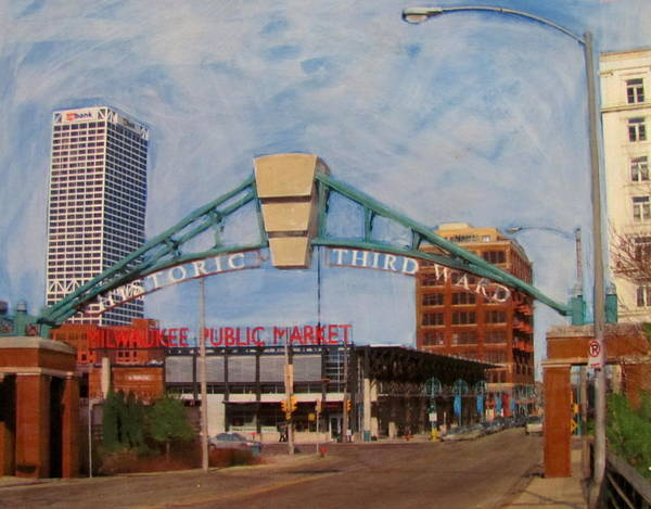 Mixed Media - Third Ward Arch Over Public Market by Anita Burgermeister