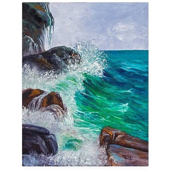 Wall Art - Photograph - This 11x14 Oil Painting waves On by Darice Machel McGuire
