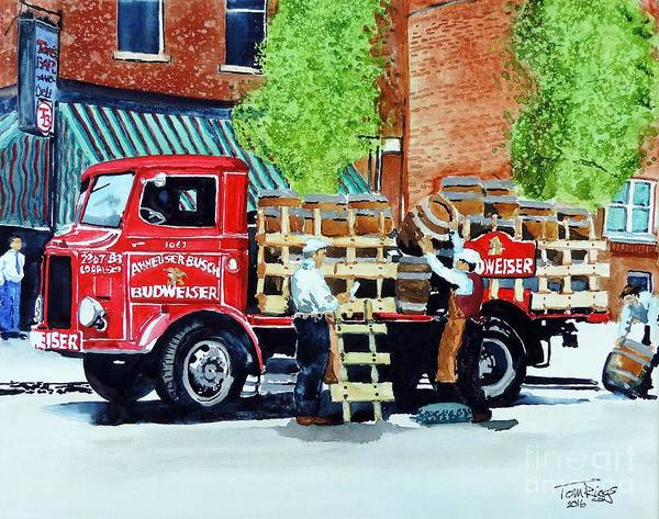 Delivery Truck Painting - This Bud's For You by Tom Riggs