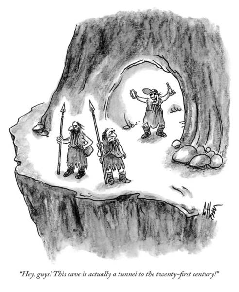 Actually Drawing - This Cave Is Actually A Tunnel To The Twenty First Century by Frank Cotham