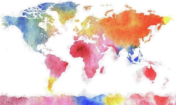 Painting - This Colorful World In Watercolor by Irina Sztukowski
