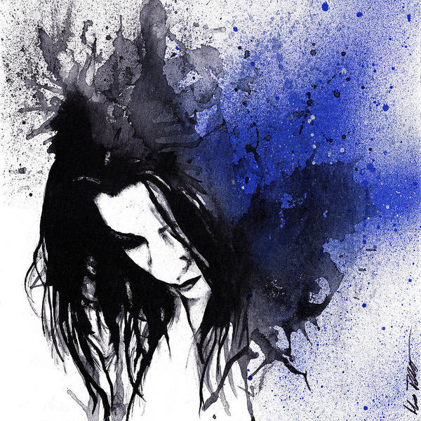 Spray Paint Painting - This Confession Means Nothing - Blue by Marco Paludet