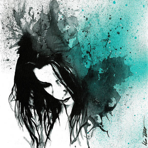 Spray Paint Painting - This Confession Means Nothing - Turquoise by Marco Paludet