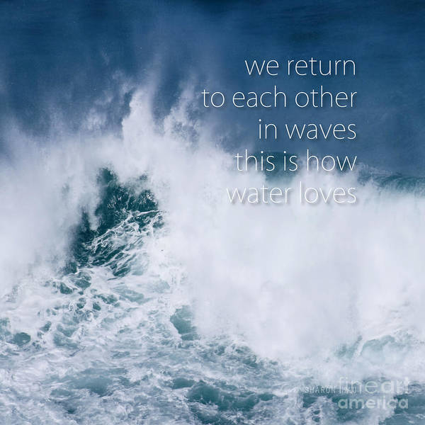 Photograph - This Is How Water Loves by Sharon Mau