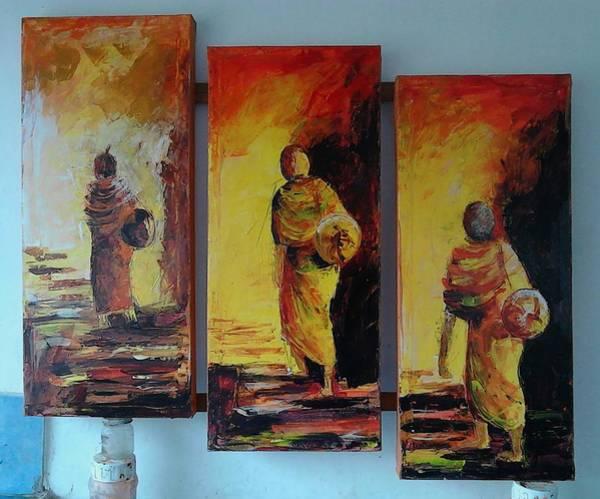Wall Art - Painting - This Is Meaning Of Lifes by Sudumenike Wijesooriya