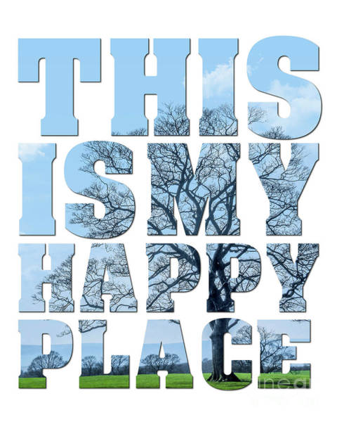 This Is My Happy Place Photograph - This Is My Happy Place - The Old Oak by Carol Herbert