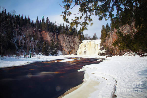 Photograph -  This Is The High Falls Of The Baptism River Tettegouche State Park Minnesota 2 by Wayne Moran