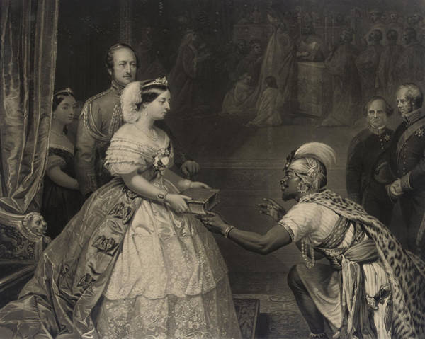 Victoria Drawing - This Is The Secret Of England's Greatness by Thomas Jones Barker