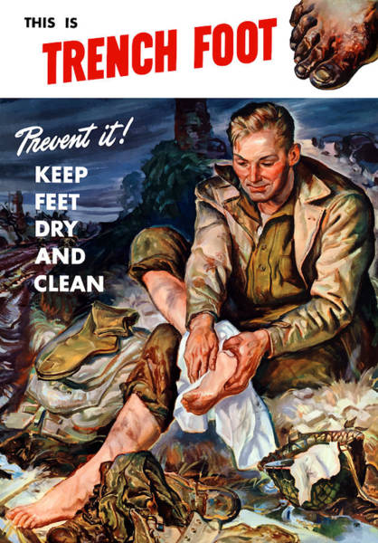 Wall Art - Painting - This Is Trench Foot - Prevent It by War Is Hell Store