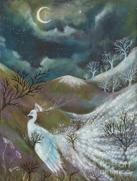 Wall Art - Painting - This Is Where Snow Comes From by Angel Ciesniarska