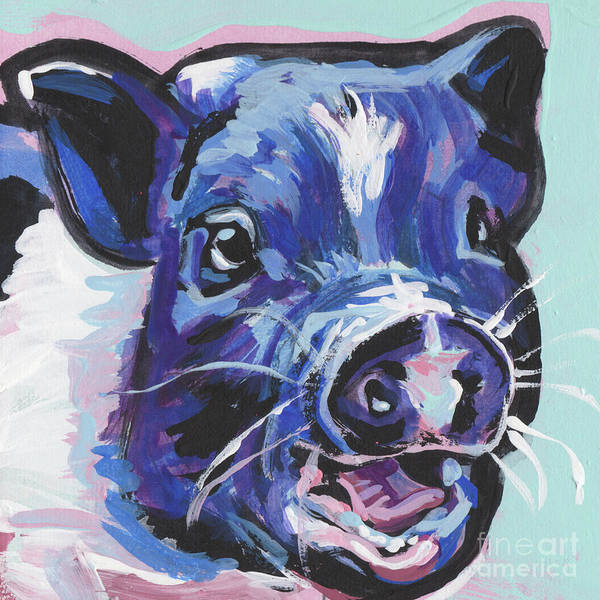 Wall Art - Painting - This Little Piggy by Lea