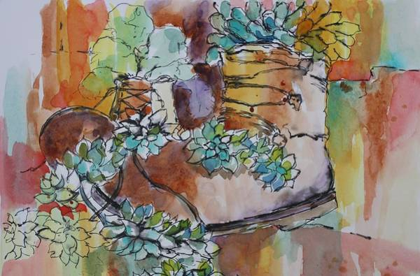 Painting - This Old Boot by Tara Moorman