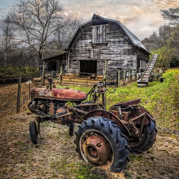 Nantahala Photograph - This Old Tractor by Debra and Dave Vanderlaan