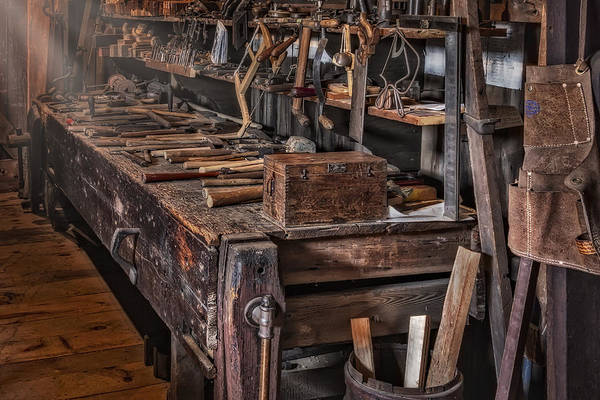 Photograph - This Old Workshop by Susan Candelario