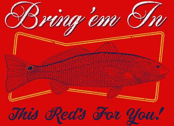 Redfish Wall Art - Digital Art - This Reds For You by Kevin Putman