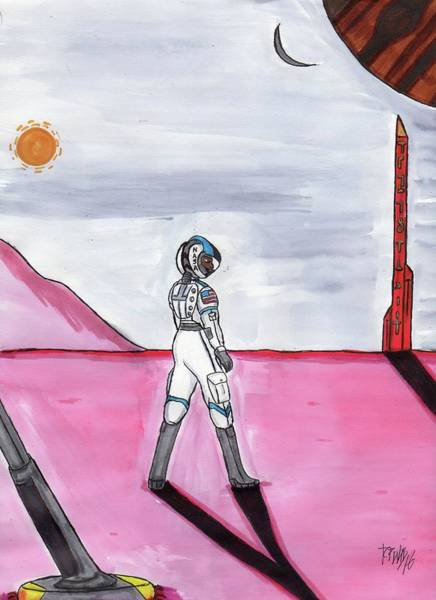 Space Exploration Mixed Media - This Should Not Be Here by Ronald Woods