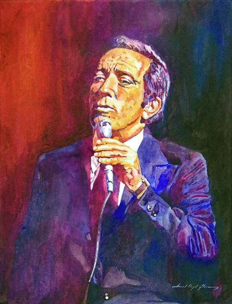 Entertainer Painting - This Song Is For You - Andy Williams by David Lloyd Glover