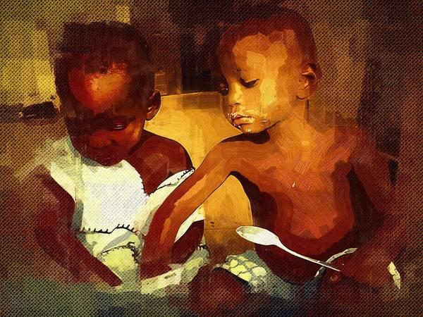 Ghana Painting - This Tastes Good by Deborah Selib-Haig DMacq