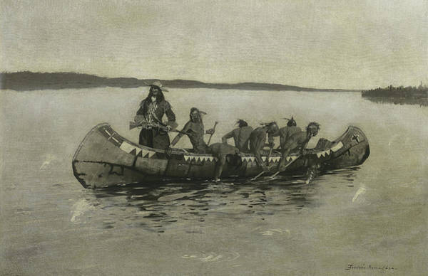 Painting - This Was A Fatal Embarkation by Frederic Remington