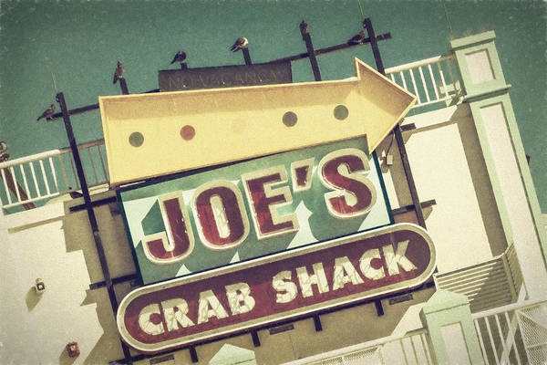 Wall Art - Photograph - This Way To Joe's Crab Shack by Joan Carroll