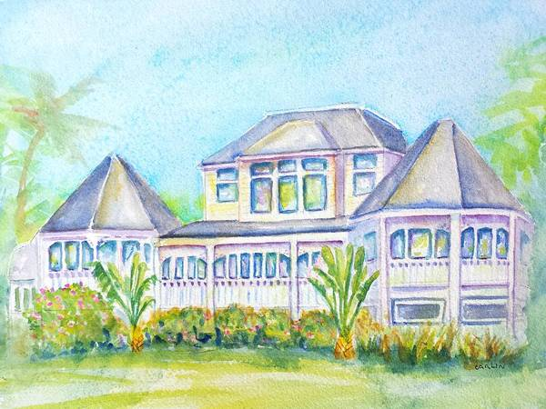 Exterior Painting - Thistle Lodge Casa Ybel Resort  by Carlin Blahnik CarlinArtWatercolor