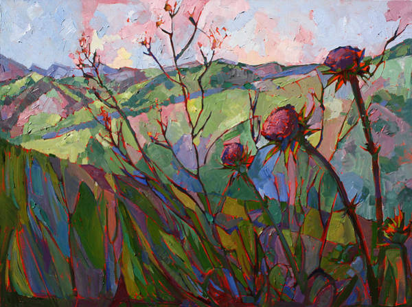 Wall Art - Painting - Thistle Mosaic by Erin Hanson