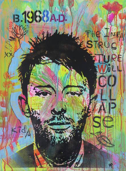 Painting - Thom Yorke by Dean Russo Art