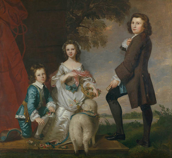Painting - Thomas And Martha Neate With His Tutor, Thomas Needham by Joshua Reynolds