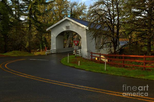 Photograph - Thomas Creek Covered Bridge by Adam Jewell