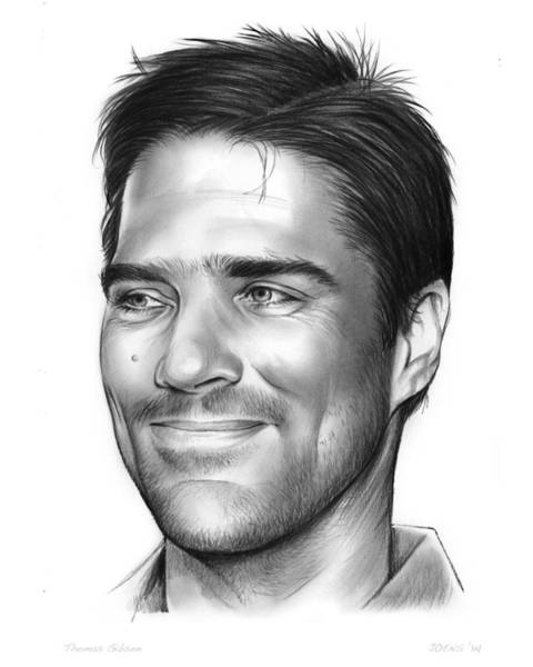 Wall Art - Drawing - Thomas Gibson by Greg Joens