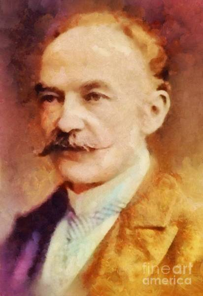 Poetry Painting - Thomas Hardy, Literary Legend by Sarah Kirk