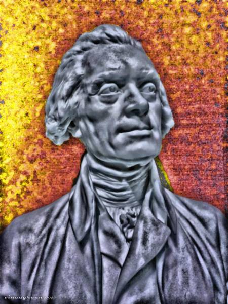 Digital Art - Thomas Jefferson Is On Fire by Vincent Green