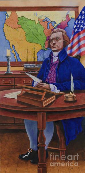 Louisiana Purchase Painting - Thomas Jefferson by Michael Frank