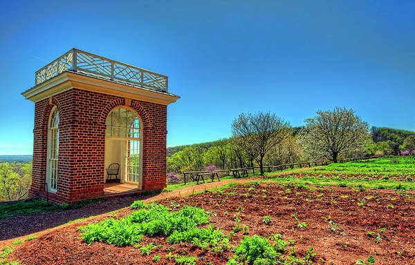 Wall Art - Photograph - Thomas Jefferson's Monticello Garden Pavilion by Craig Fildes