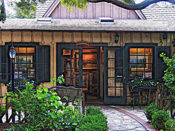 Photograph - Thomas Kinkade Garden Gallery Of Carmel by Glenn McCarthy