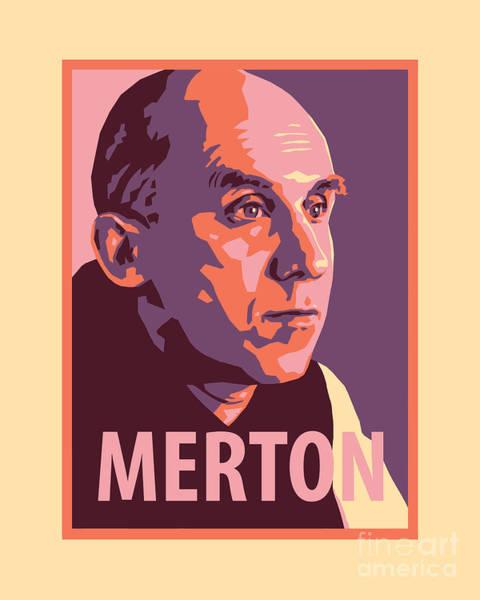 Painting - Thomas Merton - Jltme by Julie Lonneman