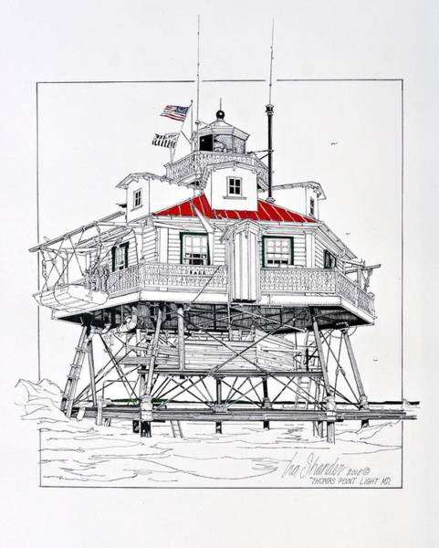 Screw Pile Wall Art - Photograph - Thomas Pont Lighthouse by Ira Shander